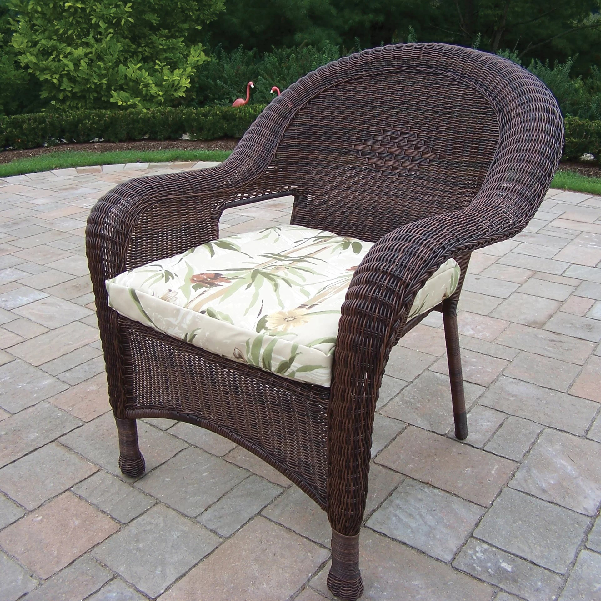 Resin Wicker Rocking Chair Oakland Living Resin Wicker Chair And Reviews Wayfair