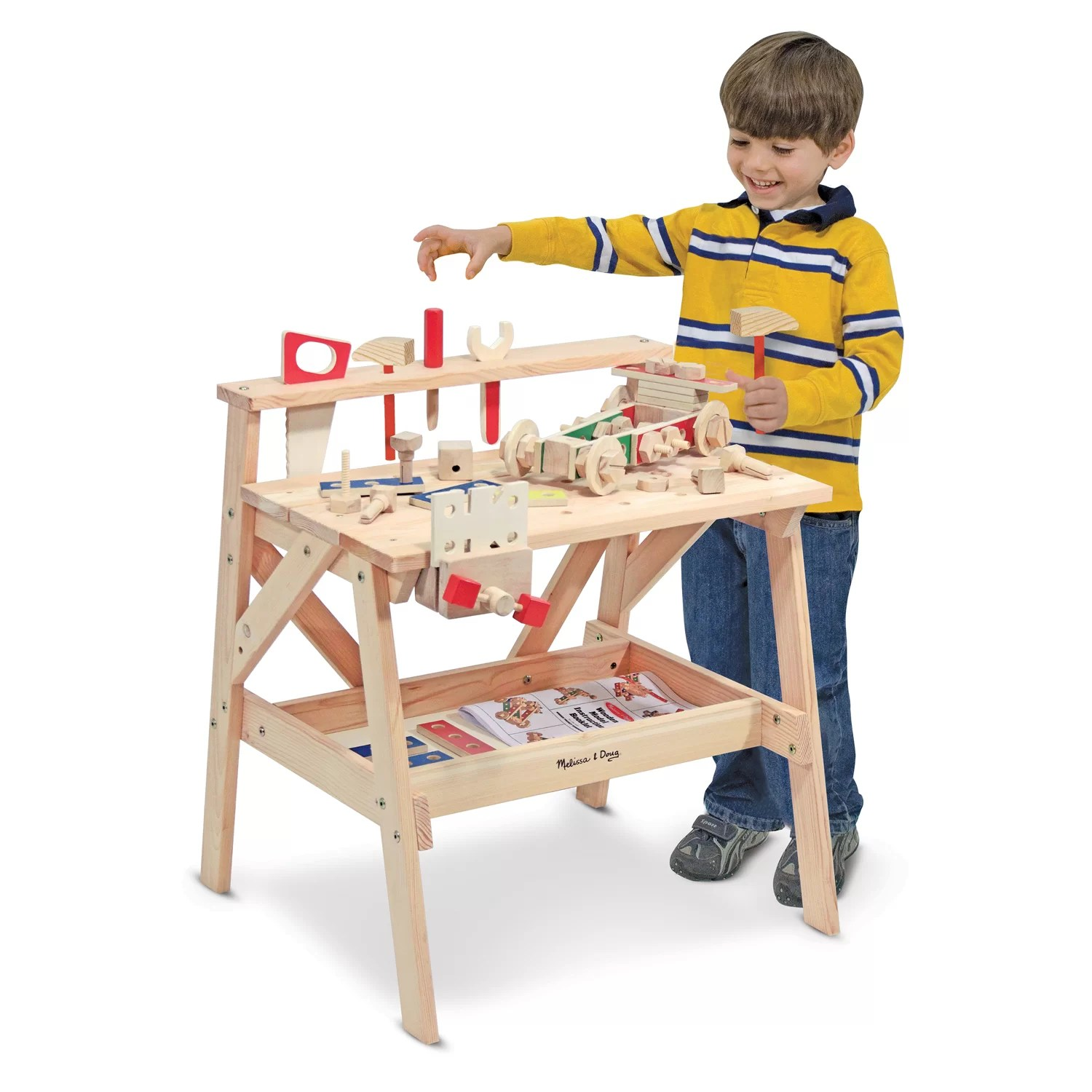 Melissa And Doug Table And Chairs Melissa And Doug Wooden Project Workbench Set And Reviews