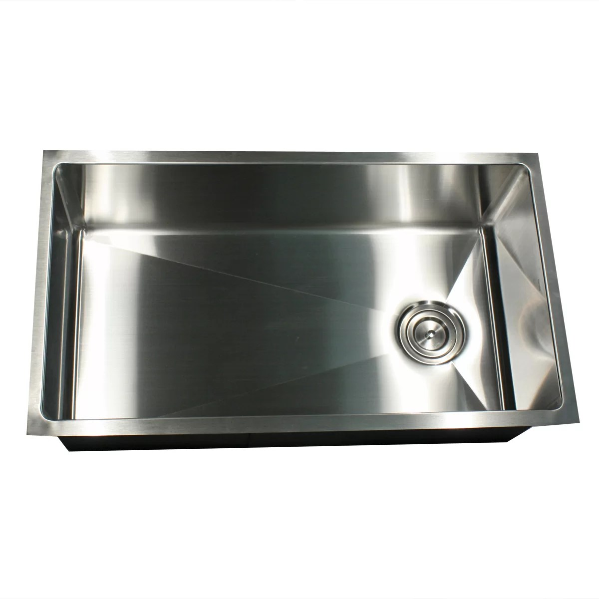 stainless steel kitchen sink reviews hood fire suppression system installation nantucket sinks 32 quot x 18 small radius