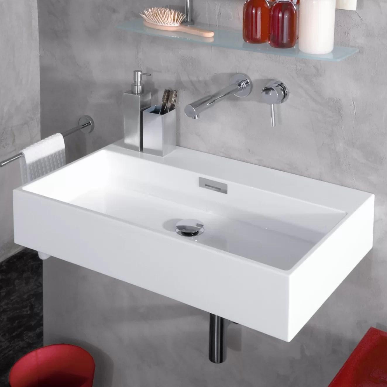 WS Bath Collections Modern Wall Mounted Vessel Bathroom Sink  Reviews  Wayfair