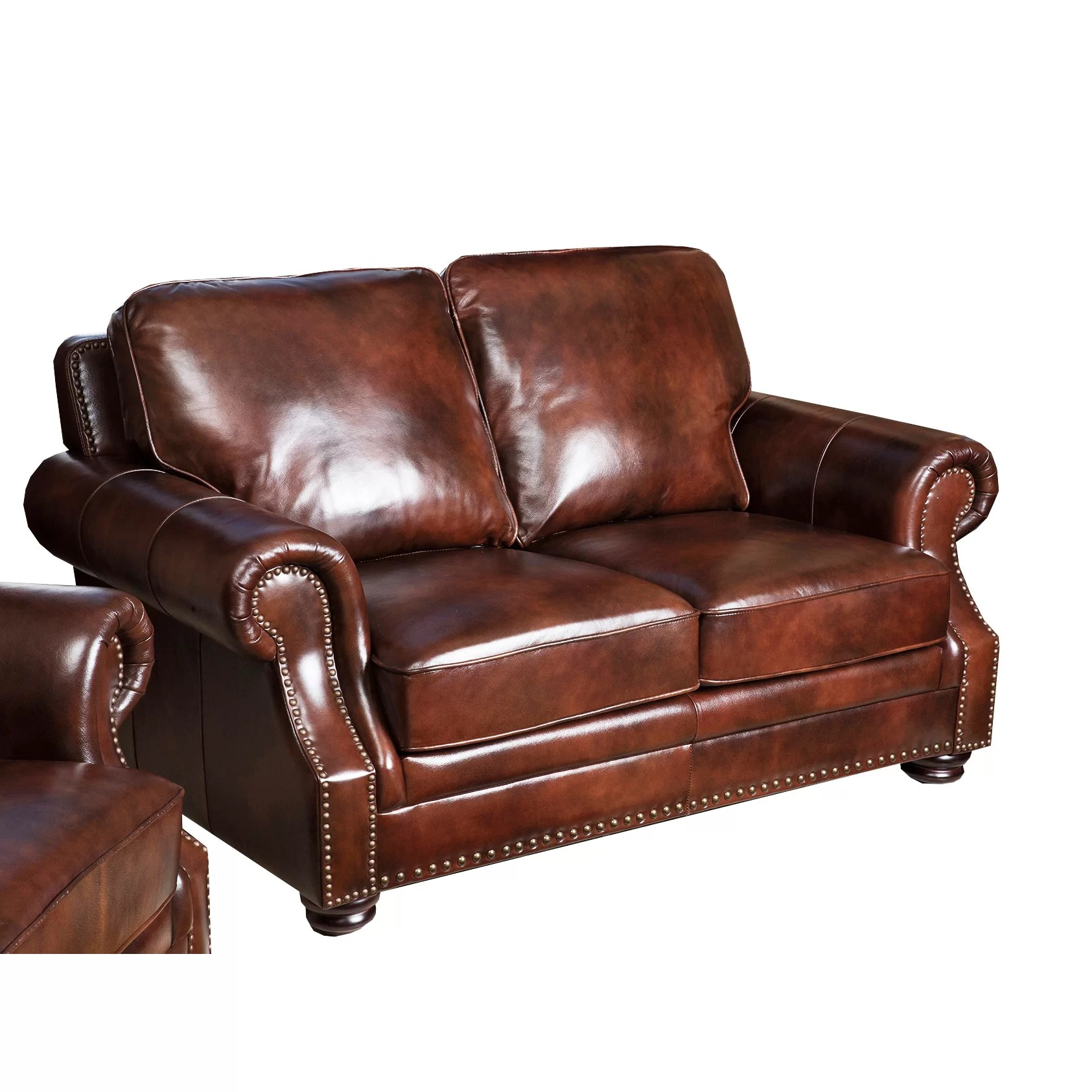 abbyson leather sofa reviews sofas for small spaces living karington loveseat and wayfair
