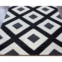 nuLOOM Bella Diamonds Black & White Area Rug & Reviews ...