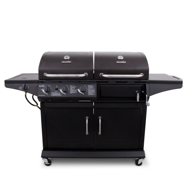 Charbroil 2-in-1 Charcoal And 3-burner Gas Deluxe Combo