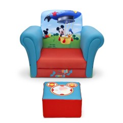 Kids Chair With Ottoman West Elm Saddle Delta Children Mickey Mouse Upholstered And