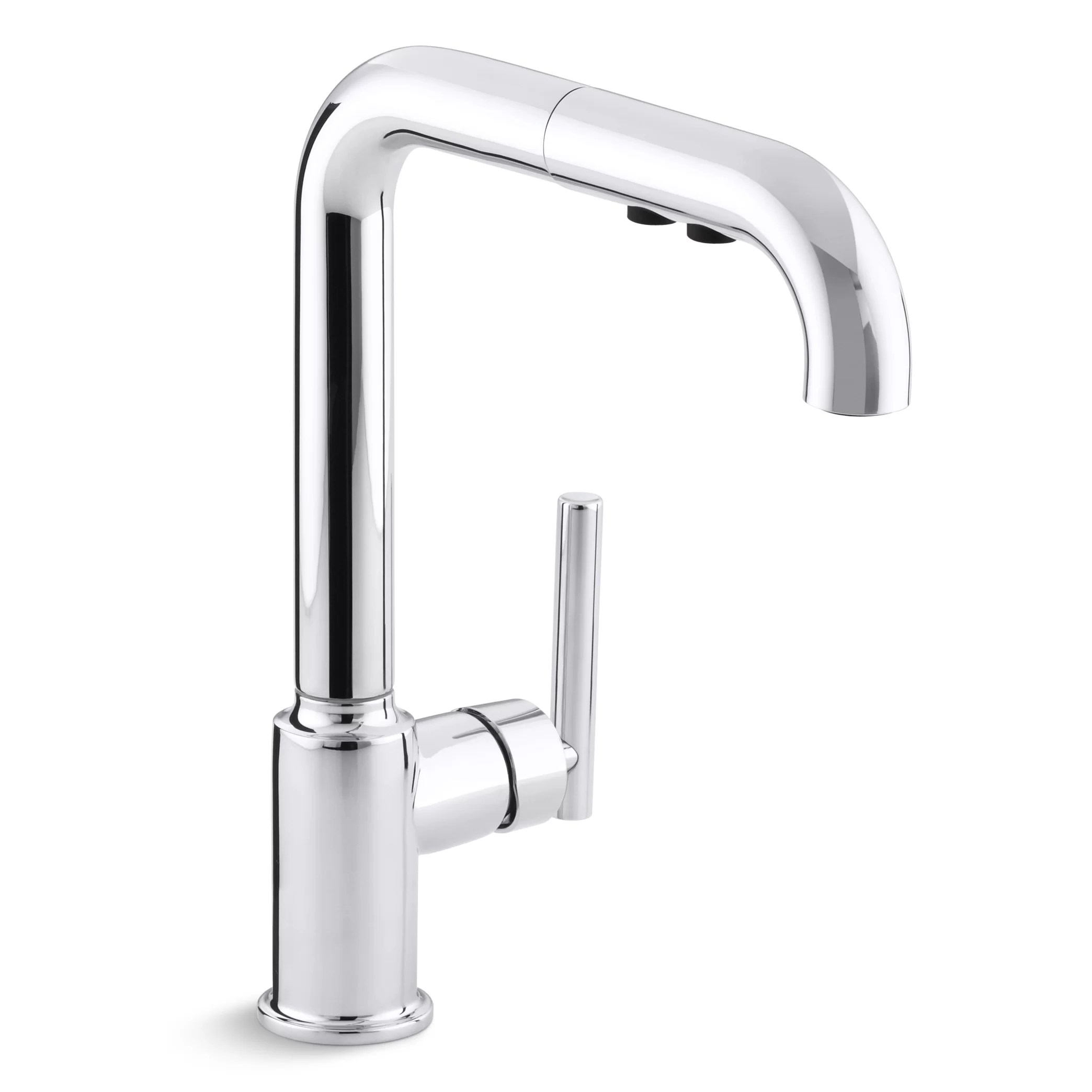 purist kitchen faucet wooden play kitchens kohler single hole sink with 8