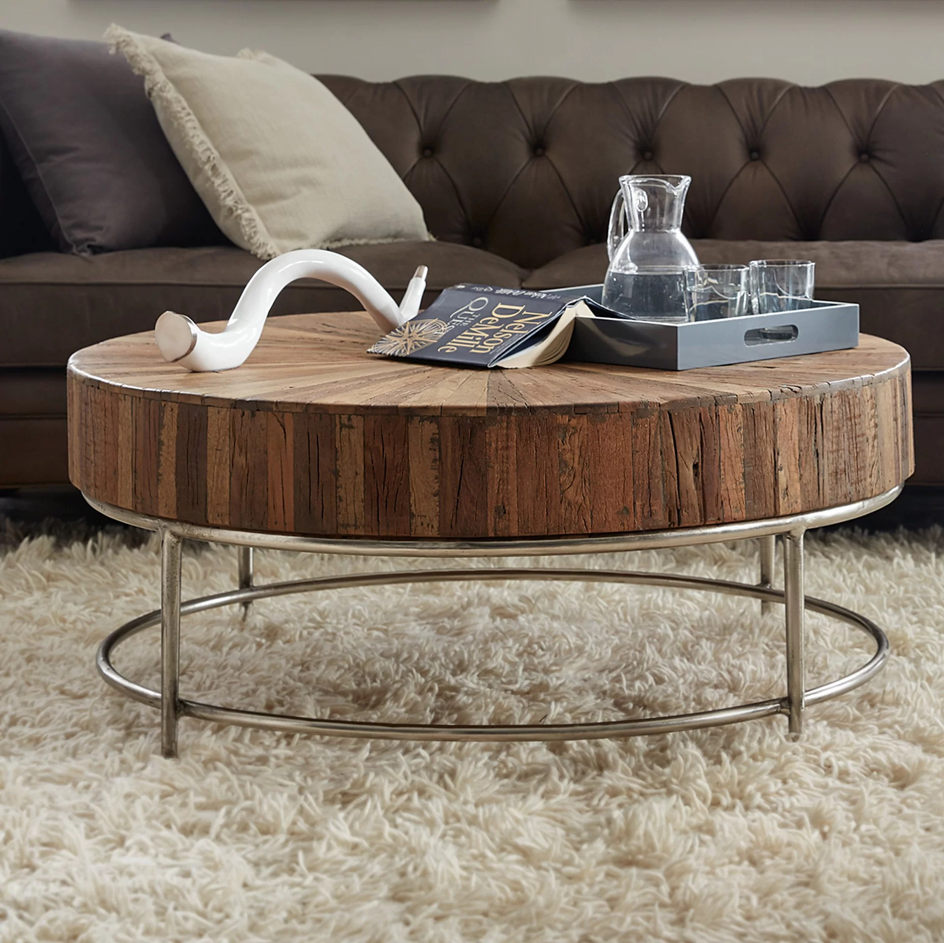 no coffee table living room candice olson hooker furniture l usine reviews wayfair