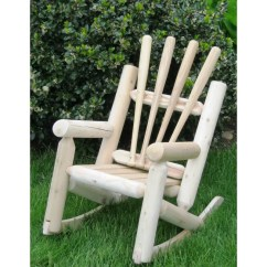 Log Style Adirondack Chairs Best Swivel Glider Ski Chair Snow Children S Solid Wood Rocking Wayfair