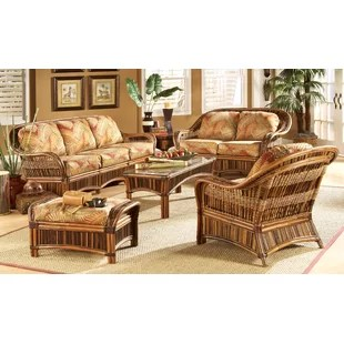 wicker living room sets paint colors 2019 rattan set wayfair ventura 6 piece of