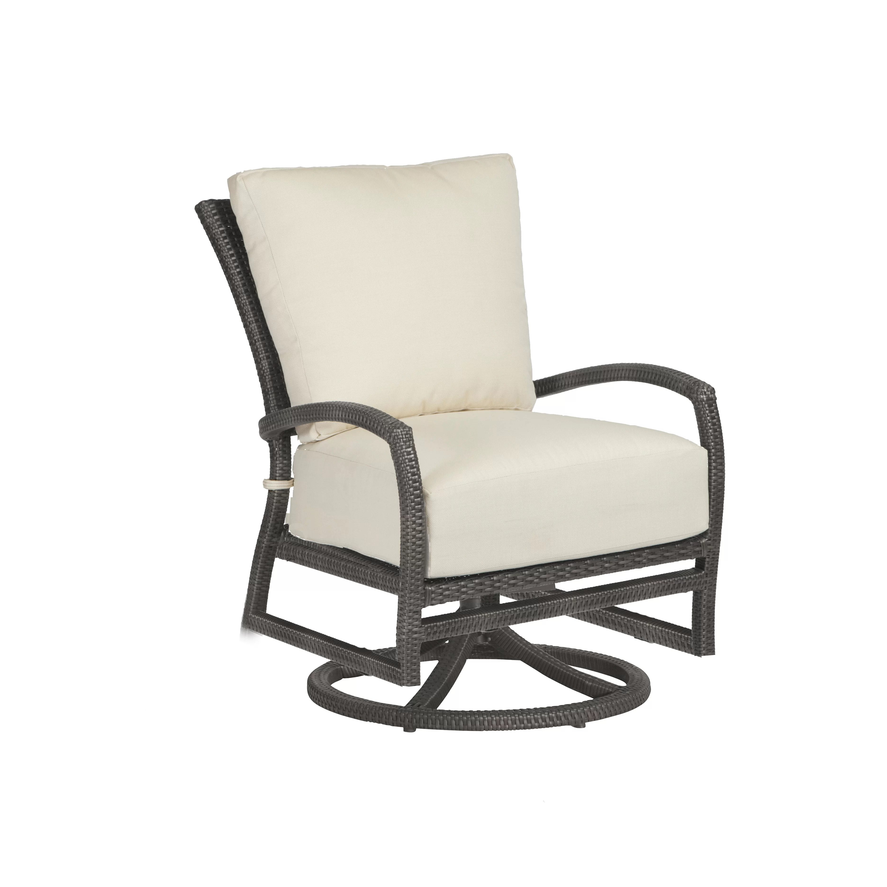Swivel Rocking Chairs Skye Swivel Rocking Lounge Chair With Cushion