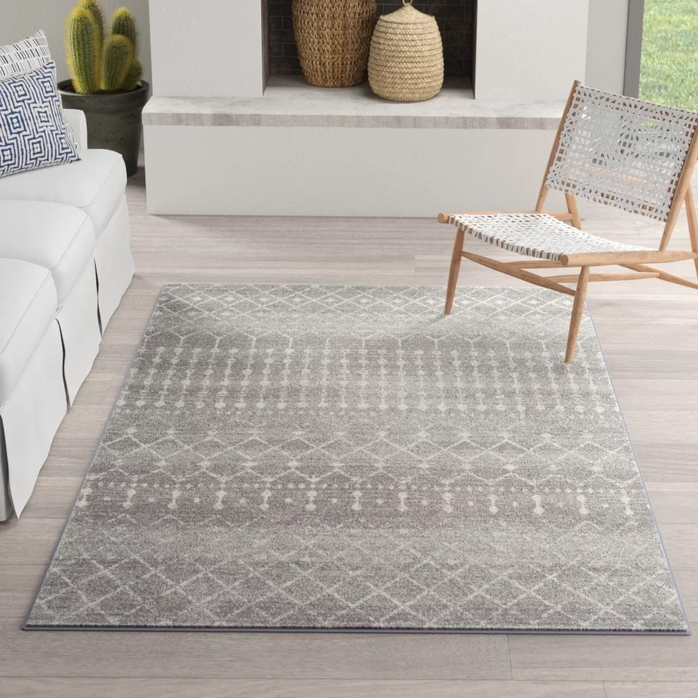 dark gray living room rug wall colors for rooms 2016 clair area reviews allmodern