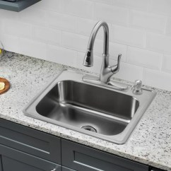 Ss Kitchen Sinks Arhaus Table Soleil 25 L X 22 W Single Bowl Drop In Stainless Steel Sink