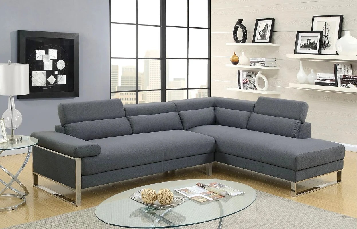 justin ii fabric reclining sectional sofa mission style convertible bed ketan and reviews joss main