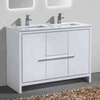 "Bosley 48"" Double Sink Modern Bathroom Vanity Set ..."