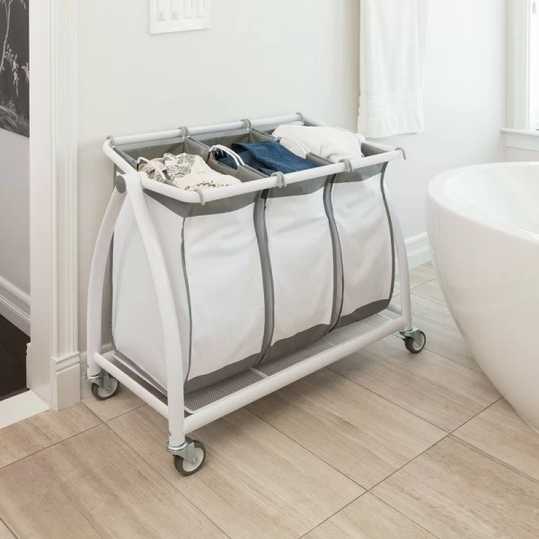 Seville Classics 3 Bag Tilt Laundry Sorter &