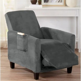 recliner chair covers grey extra large beach chairs slipcovers you ll love wayfair quickview