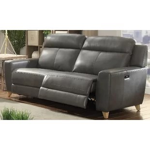 grey power reclining sofa off white sofas you ll love wayfair ca guillermo