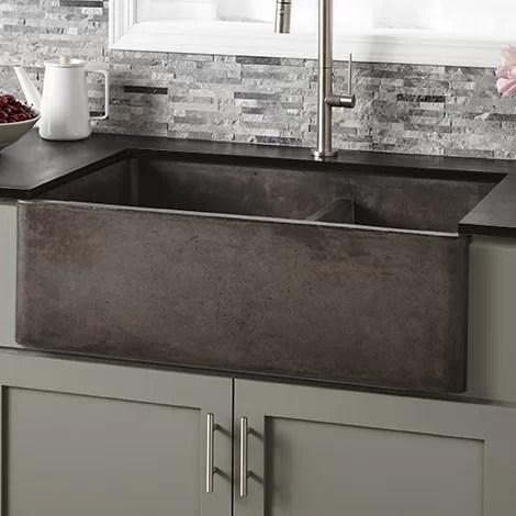 kitchen sink farmhouse glass cabinet native trails 33 l x 21 w double basin reviews wayfair