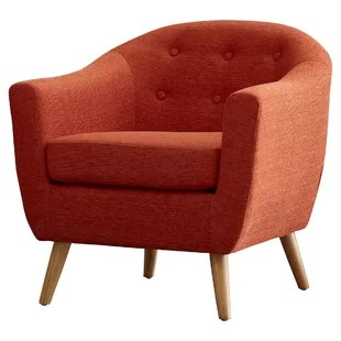 orange bucket chair graco blossom high modern contemporary allmodern henley barrel