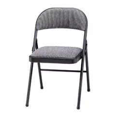 Black Padded Folding Chairs Baby Trend High Chair Cover Replacement You Ll Love Wayfair