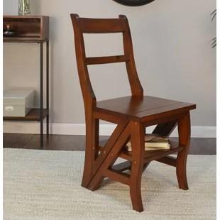 library chair ladder carp fishing low folding wayfair franklin side