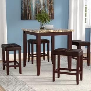 high top table chair set folding by regina spektor dining wayfair dejean 5 piece counter height