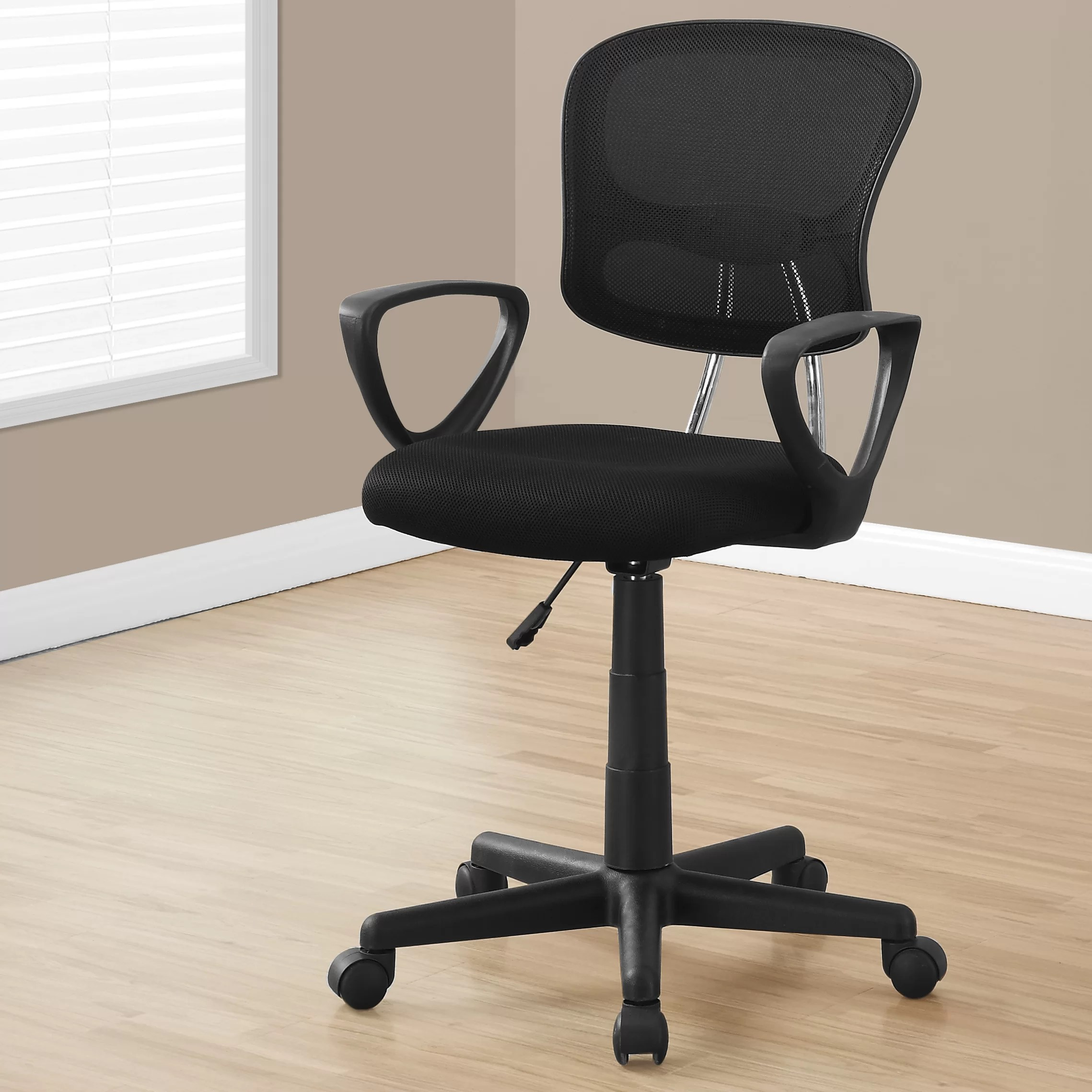 desk chair next adjustable chairs without wheels monarch specialties inc elisha mid back mesh