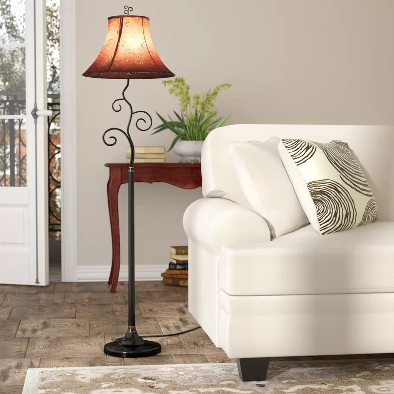 living room floor lamp rugs with grey walls lamps you ll love wayfair clarice 61
