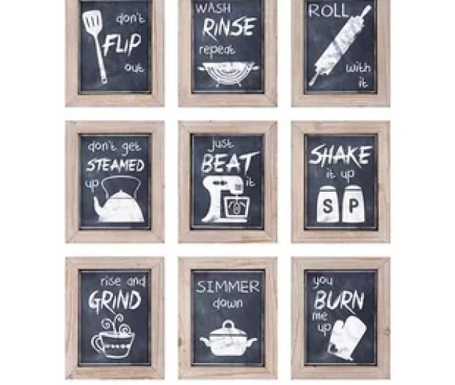 Piece Kitchen Inspirations Wall Decor
