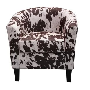 cow print chair swing for 1 year old baby wing back with wayfair spot barrel