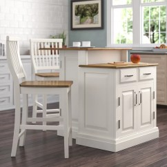 Kitchen Island Set How To Design A Layout Darby Home Co Susana 3 Piece With Wood Top