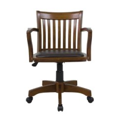Rolling Desk Chair With Locking Wheels Humanscale Liberty Review Wood Office Chairs You'll Love | Wayfair