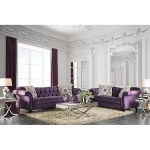 purple living room furniture sofas black and silver ideas sets you ll love wayfair quickview