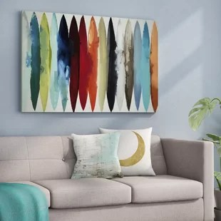 modern living room wall art what colors are in style for rooms mid century you ll love wayfair quickview
