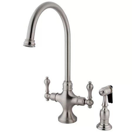 kitchen side sprayer island discount kingston brass vintage double handle faucet with