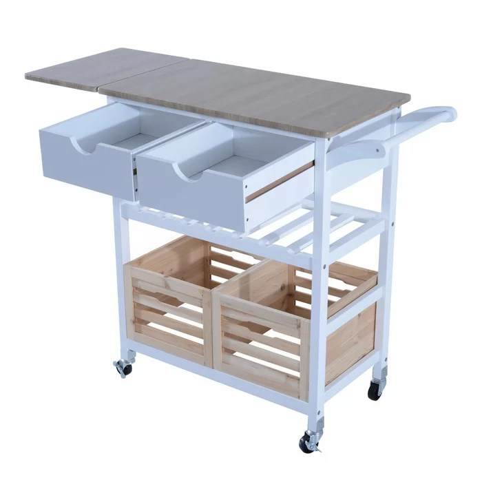 drop leaf kitchen cart remodel cost calculator winston porter nikolai rolling wayfair ca