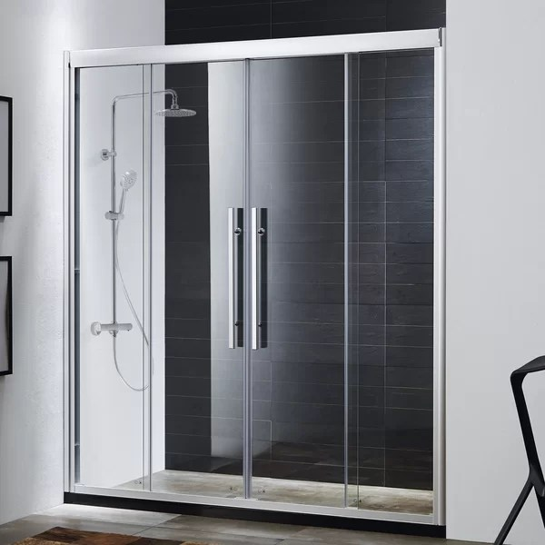 Wet Republic Clarity 59 x 72 Double Sliding Shower