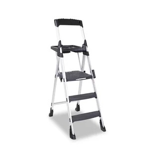 kitchen ladder dolphin accessories folding step wayfair 5 75 ft aluminum with 300 lb load capacity