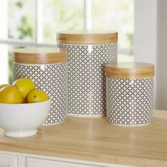 Kitchen Canister Do It Yourself Cabinets Canisters Jars You Ll Love Wayfair Hannan 3 Piece Set