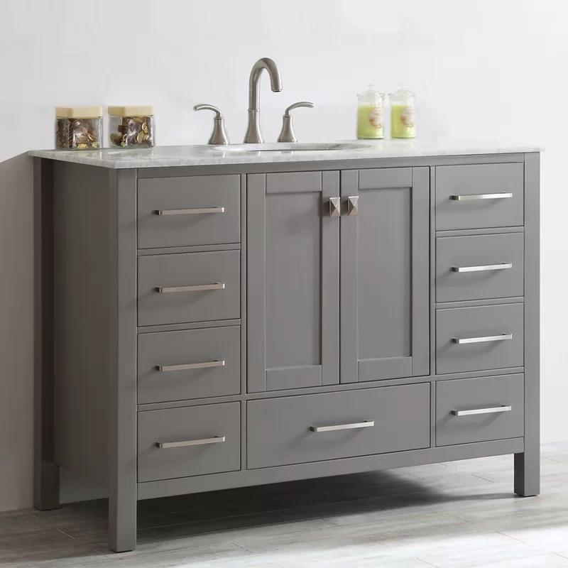 "beachcrest home newtown 48"" single bathroom vanity set & reviews"