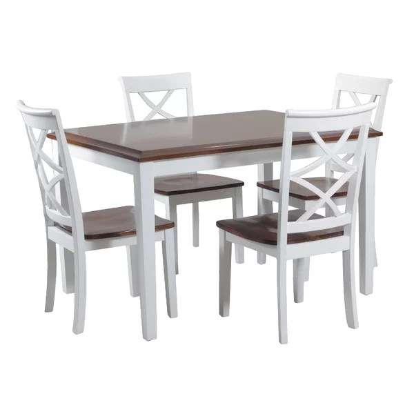 rustic dining table and chairs cushions for lawn kitchen room sets you ll love