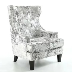 Crushed Velvet Chair Adirondack Style Plastic Chairs Uk Silver Wayfair Co Quickview 0 Apr Financing Black