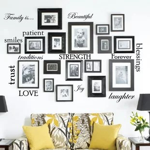 living room picture wall color schemes with navy blue decals you ll love wayfair quickview