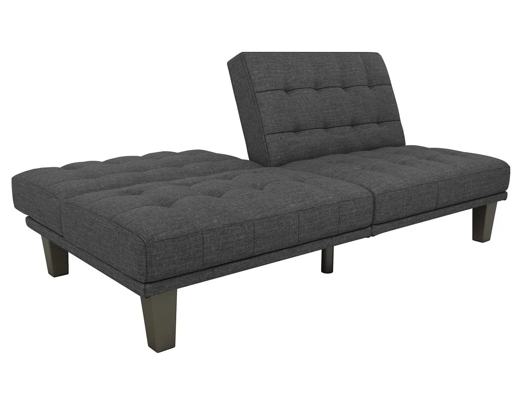 convertible futon sofa bed lounger how to clean your set wade logan haysi and reviews