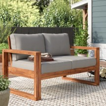 Union Rustic Lyall Loveseat With Cushion &