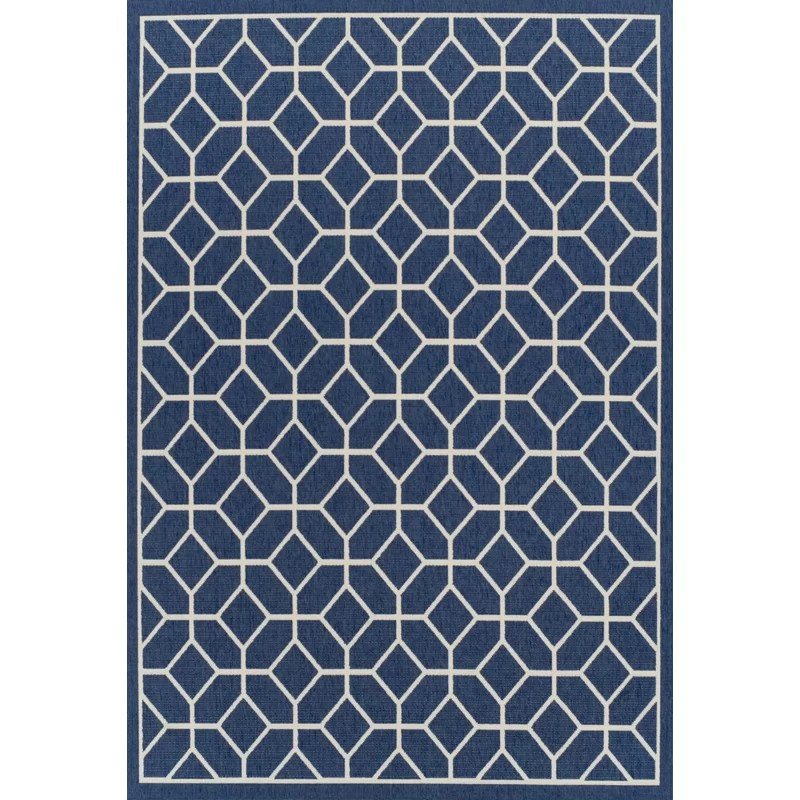 Wayfair Outdoor Teppich Longweave Teppich Lozko In Blau & Bewertungen | Wayfair.de