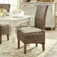Farmhouse Dining Room Chairs Purple Chaise Lounge Chair Benches Birch Lane Augusto Woven Seagrass Side Set Of 2