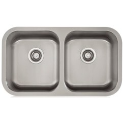 Stainless Steel Undermount Kitchen Sinks Light Fixtures Home Depot Lenova Apogee 32 25 L X 9 W Equal Double Sink