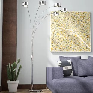 living room floor lamp rustic contemporary modern lamps you ll love wayfair cheddington 88 tree