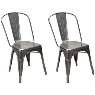 rustic metal dining chairs waterproof garden chair covers wayfair quickview