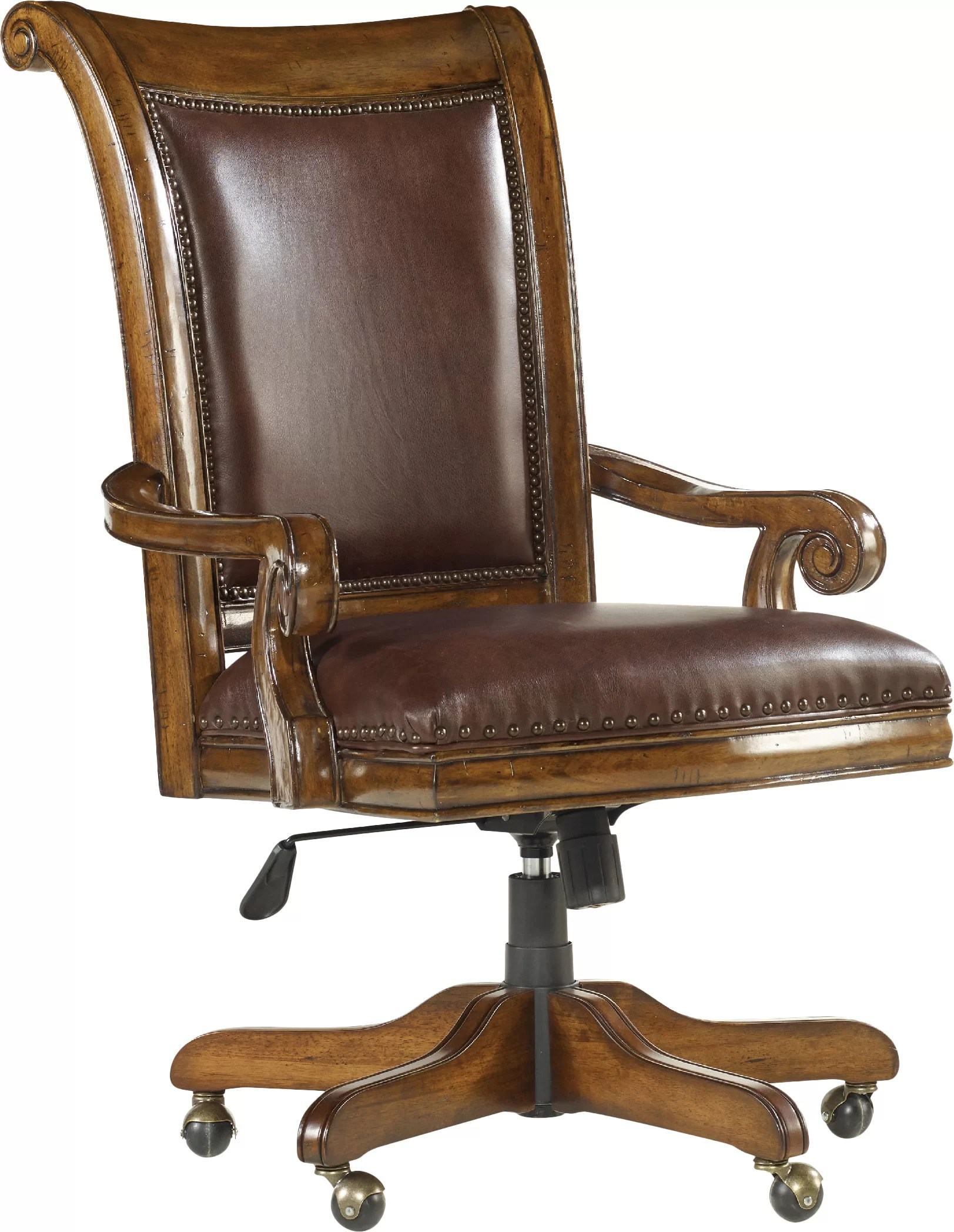 Wooden Bankers Chair Tynecastle Leather Bankers Chair